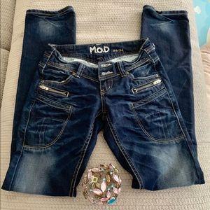 Perfect distressed  bootcut denim jeans